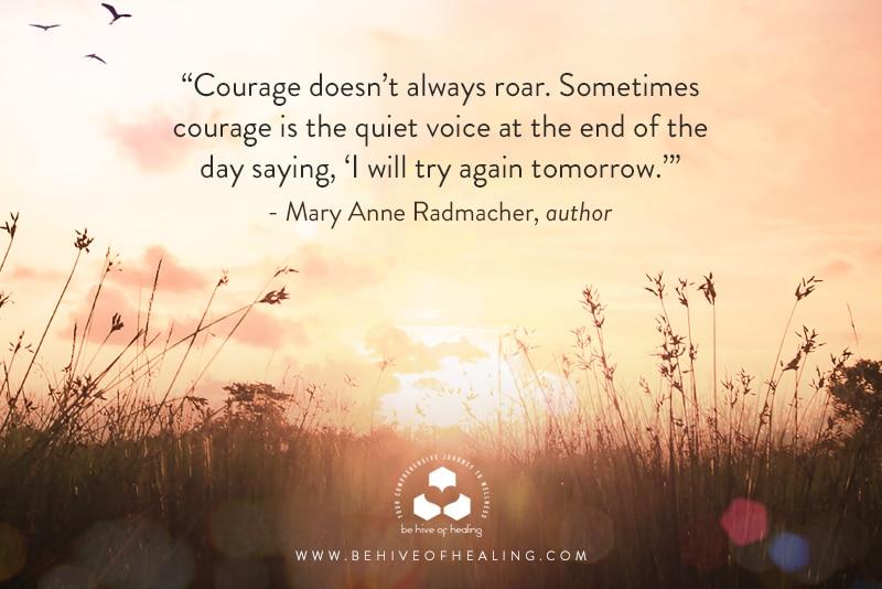 Meditation Minute From Mary Anne Radmacher